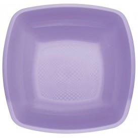 Assiette Plastique Creuse Lilas Square PP 180mm (25 Utés)