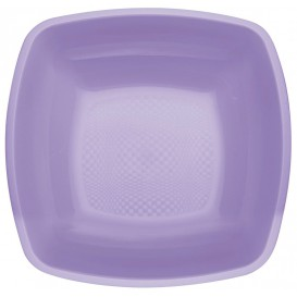 Assiette Plastique Fond Lilas PP 180mm (150 Utés)