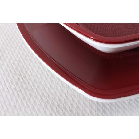 Assiette  Plate Bordeaux Square PP 230mm (25 Utés)