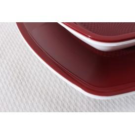 Assiette Plastique Réutilisable Creuse Bordeaux PP 180mm (300 Utés)