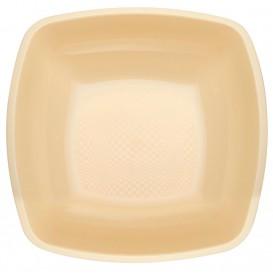 Assiette Plastique Réutilisable Creuse Crème PP 180mm (300 Utés)