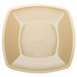 Assiette Plastique Réutilisable Plate Crème PP 230mm (25 Utés)
