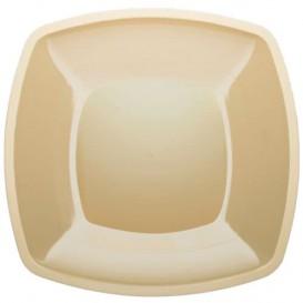 Assiette Plastique Plate Creme PS 300mm (12 Utés)