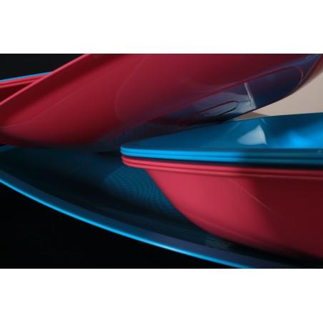 Assiette Plastique Plate Rouge Transp. Square PS 230mm (25 Utés)