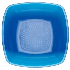 Assiette Plastique Réutilisable Creuse Bleu Transp.  PS 180mm (25 Utés)