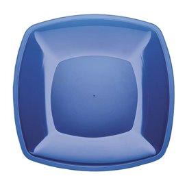 Assiette Plastique Réutilisable Plate Bleu Transp.  PS 300mm (144 Utés)