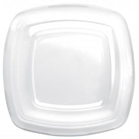 Couvercle Plastique Réutilisable Transp. PET pour Assiette 180mm (25 Utés)
