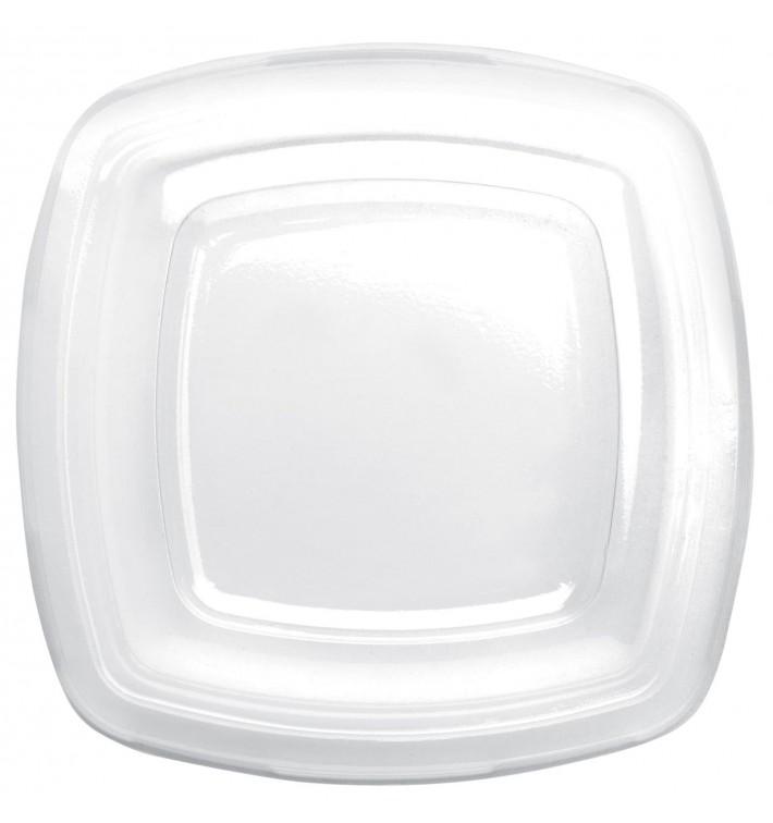 Couvercle Plastique Réutilisable Transp. PET pour Assiette180mm (300 Utés)