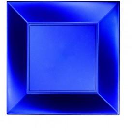 Assiette Plastique Plate Bleu PP 290mm (12 Utés)
