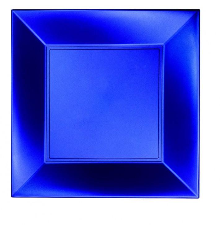 Assiette Plastique Réutilisable Plate Bleu PP 290mm (12 Utés)