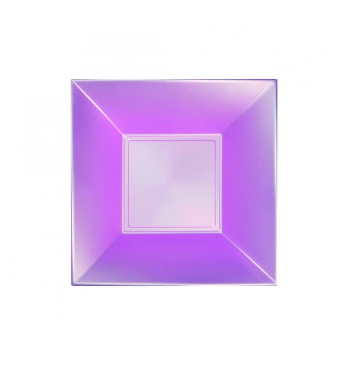 Assiette Plastique Réutilisable Creuse Violet Pearl PP 180mm (25 Utés)