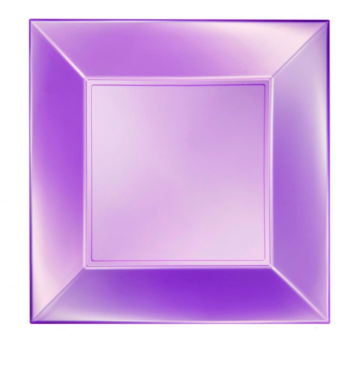 Assiette Plastique Réutilisable Plate Violet Pearl PP 290mm (12 Utés)