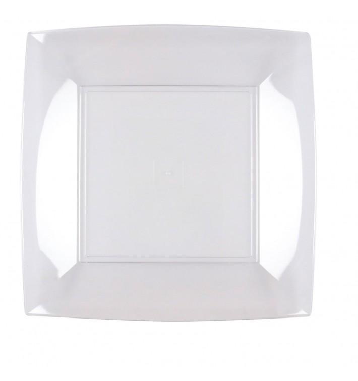 Assiette Plastique Réutilisable Plate Transp. PS 230mm (300 Utés)