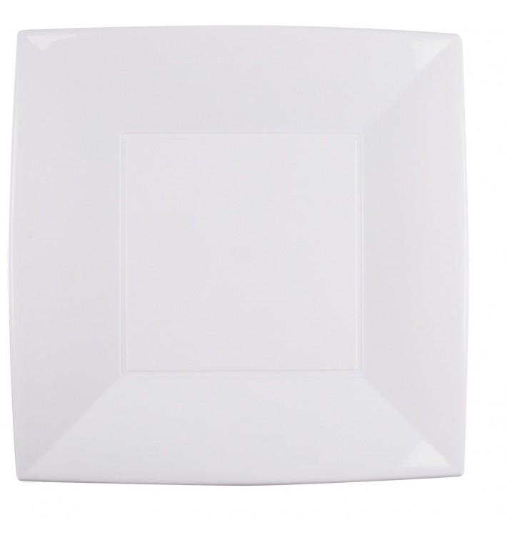 Assiette Plastique Réutilisable Plate Blanc PP 290mm (144 Utés)