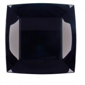 Assiette Plastique Plate Carrée Argent 230mm (25 Utés)