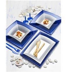 Assiette Plastique Réutilisable Creuse Gris PP 180mm (300 Utés)