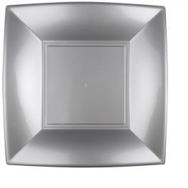 Assiette Plastique Plate Gris Nice PP 290mm (72 Utés)