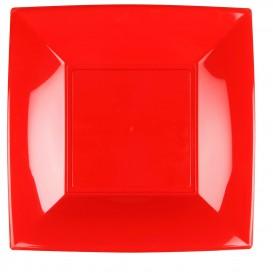 Assiette Plastique Réutilisable Plate Rouge PP 290mm (144 Utés)
