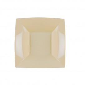 Assiette Plastique Creuse Crème Nice PP 180mm (25 Utés)