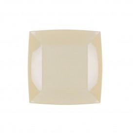 Assiette Plastique Plate Crème Nice PP 180mm (300 Utés)
