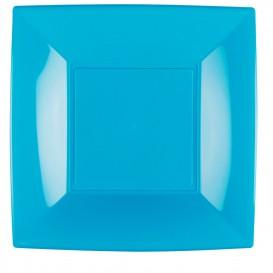 Assiette Plastique Réutilisable Plate Turquoise PP 290mm (12 Utés)