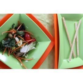 Assiette Plastique Réutilisable Creuse Vert citron PP 180mm (300 Utés)