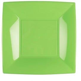 Assiette Plastique Réutilisable Plate Vert citron PP 290mm (144 Utés)