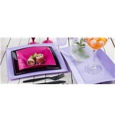 Assiette Plastique Réutilisable Creuse Fuchsia PP 180mm (25 Utés)