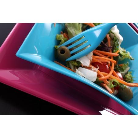 Assiette Plastique Plate Fuchsia Nice PP 180mm (25 Utés)