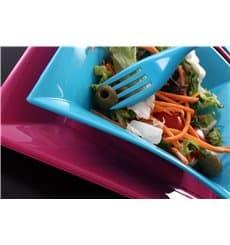 Assiette Plastique Réutilisable Plate Fuchsia PP 180mm (300 Utés)