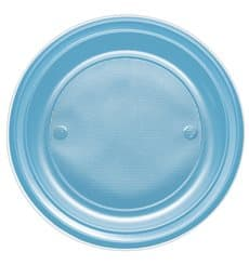 Assiette Plastique PS Plate Turquoise Ø170mm (1100 Unités)