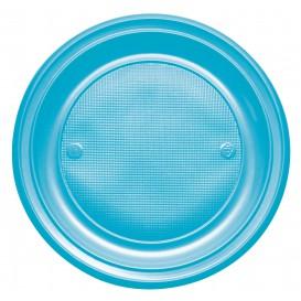 Assiette Plastique Plate Rouge PS 220mm (30 Unités)