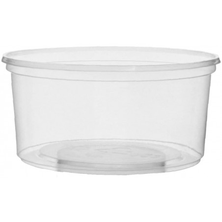 Pot en Plastique Transparent 250ml Ø10,5cm (50 Utés)