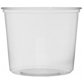 Pot en Plastique Transparent 400 ml Ø10,5cm (100 Unités)
