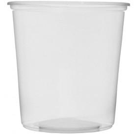 Pot en Plastique Transparent 500 ml Ø10,5cm (100 Unités)