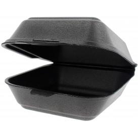 Boîte à HAMBURGER Petit FOAM Noir (125 Unités)