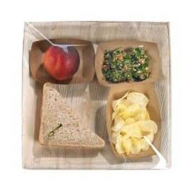 Assiette carrée en Feuilles de Palmier 27x27cm (6 Unités)