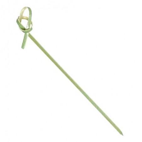 Pique en Bambou Décoré Boucle 90mm (200 Unités)