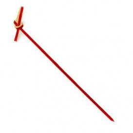 Pique en Bambou Décoré Boucle Rouge 180mm (5000 Unités)