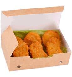 Boîte pour repas à emporter Grand Kraft 200x100x50mm (375 Utés)