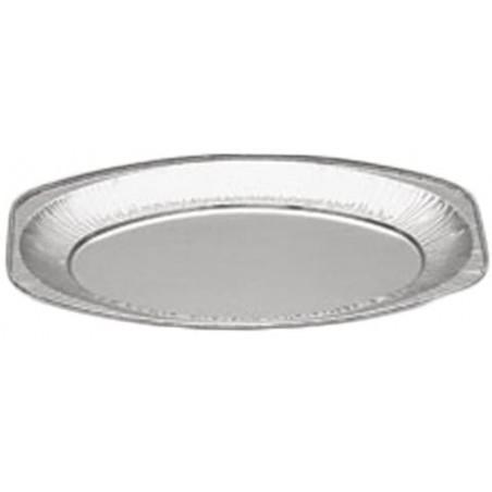Plat Oval Aluminium 870ml (100 Unités)