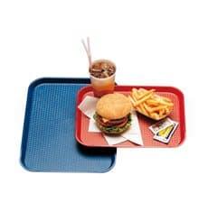 Plateau en Plastique Fast Food Rouge 27,5x35.5cm (1 Uté)