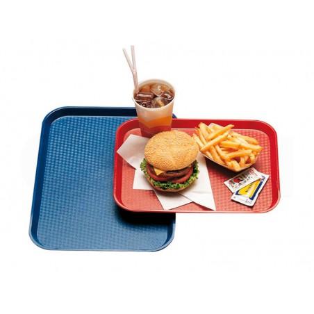 Plateau Rectangulaire pour Fast Food Bleu 35,5x45,3cm (24 Utés)