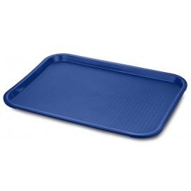 Plateau en Plastique Fast Food Bleu 35,5x45,3cm (12 Utés)