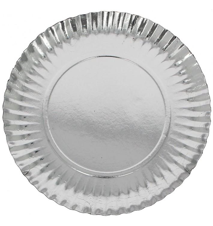 Assiette en Carton Ronde Argenté 230 mm (100 Unités)