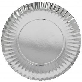 Assiette en Carton Ronde Argenté 230 mm (300 Unités)