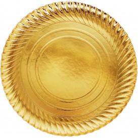 Assiette en Carton Ronde Doré 300 mm (100 Unités)