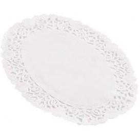 Dentelle en papier blanc Ovale 18x25cm (250 Unités)