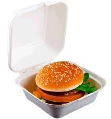 Boîte à Hamburger Canne à Sucre Blanc 152x152x84mm (600 Utés)
