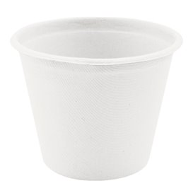Pot Bio en Canne à Sucre Blanc Ø95mm 425ml (50 Utés)